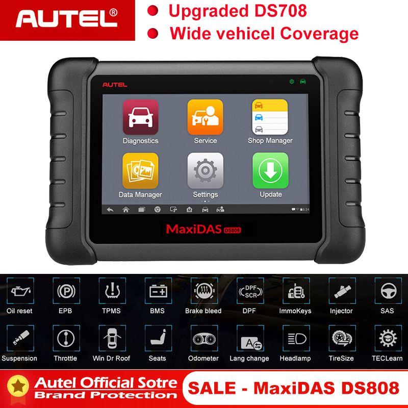 Autel MAXIDAS DS808 OBD2 Scanner OBDII OBD 2 Auto Auto Diagnose Scanner Tool TPMS Programmierung Schlüssel Programmierer Maxisys MS906