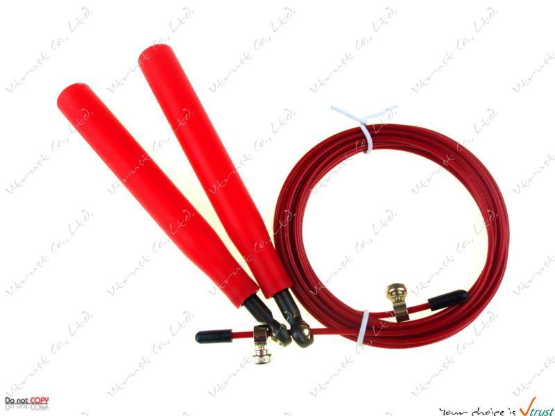 [dropship available] Speed Jump Rope with metal bearing / steel wire / length 3 meters / MMA Boxing Crossfit rope / NPGL (NPFL)