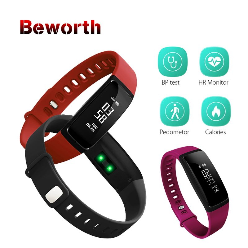 V07 Smart Band <font><b>Blood</b></font> Pressure Heart Rate Monitor Wristband Bluetooth Smart Bracelet Fitness V07S For iOS Android PK Mi Band 2 3