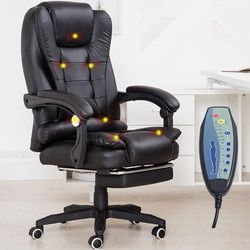 Home Office Computer Desk Massage Chair With Footrest Reclining Executive Ergonomic Vibrating Office Chair Furniture