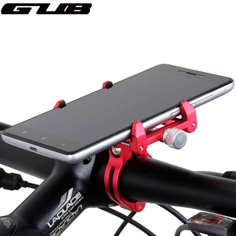 Support universel réglable de téléphone de vélo de GUB en métal pour le support de guidon de vélo en aluminium de Smartphone de 3.5-6.2 pouces