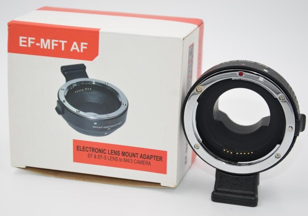 Autofokus AF Adapter mit chip forCanon EOS EF Objektiv Micro 4/3 montieren MFT OM-D G6 EF-M4/3 AF adapter EF-MFT Objektiv Mount Adapter