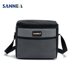 SANNE 5L кулер сумки Дети Изолированные ланч бокс для сэндвич закусок вместительная портативная Оксфорд сохраняющая тепло для еды на пикник су...