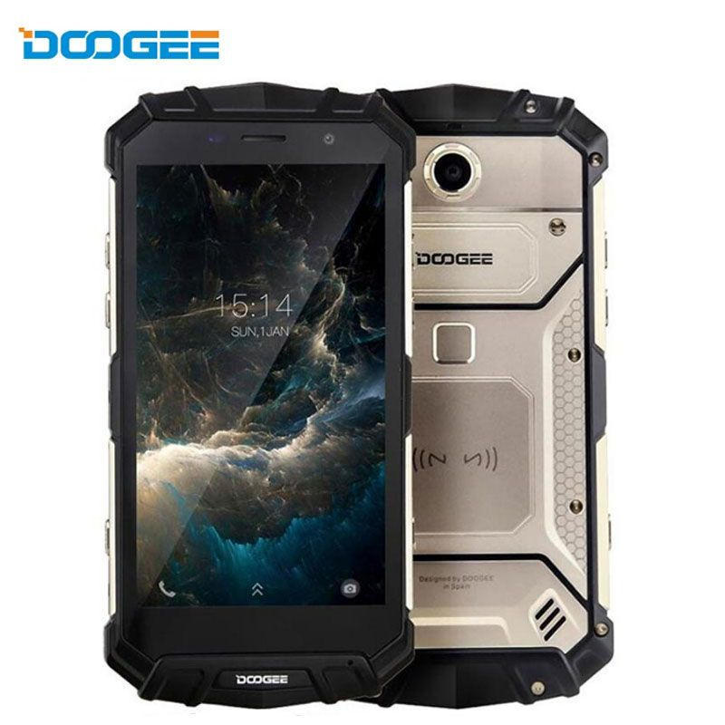 DOOGEE S60 Lite Fingerprint Smartphone 16.0MP+8MP 12V2A 5580mAh 5.2''FHD 4GB RAM+32GB ROM Android 7.0 Octa Core 4G Mobile Phone