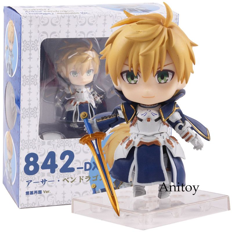 Fate/Prototype Saber Arthur Pendragon Anime Nendoroid 842-DX Ascension Ver. PVC Fate Action Figure Collectible Model Toy