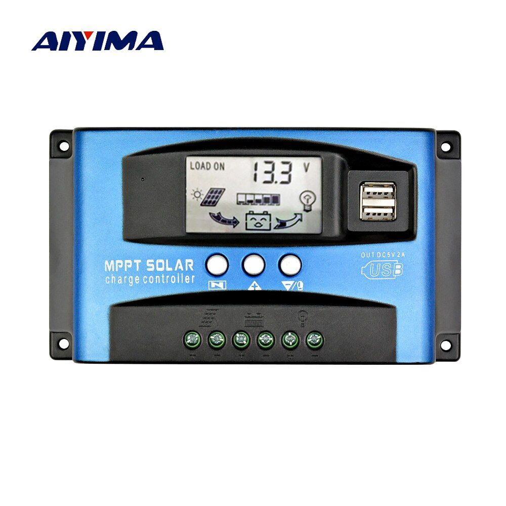 AIYIMA 60A 30A MPPT Intelligent Solar Controller 12V 24V Auto Focus Solar Panel Battery Cells Regulator Charger for Home Use PV