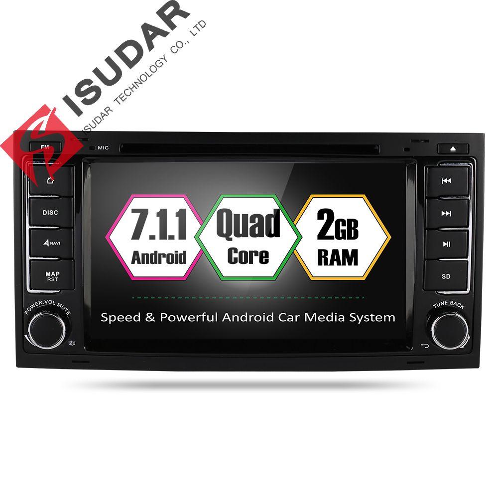 Isudar Car Multimedia Player GPS Android 7.1.1 2 Din Autoradio Car DVD Player For VW/Volkswagen/Touareg/Transporter T5 Radio FM