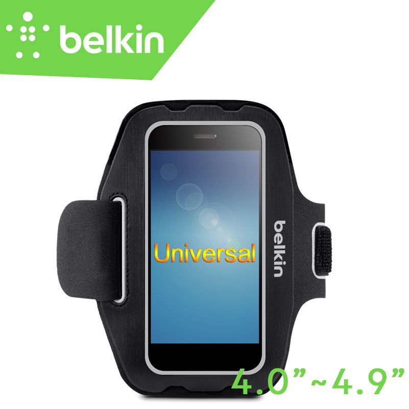 Belkin Original Universal Sport Arm Band Case for 4-4.9 Smartphone(Hand-washable) for iPhone 7 6s with Retail Package F8M984