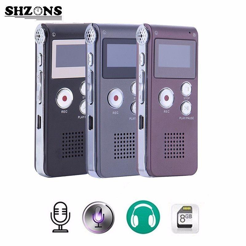 8GB High Quality Digital Audio Sound Voice Recorder Mini USB Flash Vocie Recording 650Hr Dictaphone MP3 Player