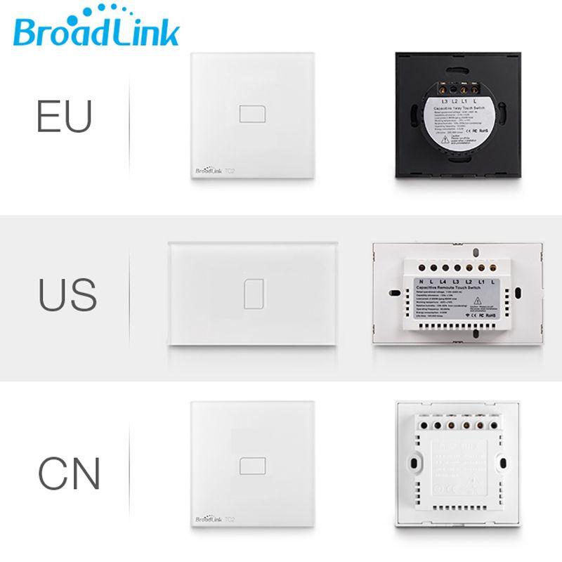 Broadlink TC2 1Gang interrupteur de lumière panneau tactile intelligent télécommande sans fil contrôleur Wifi interrupteur mural pour domotique IOS