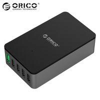 ORICO QSE-5U 5 Порты QC2.0 Быстрый Зарядное устройство 5V2. 4A/9V2A/12V1. 5A настольный USB Зарядное устройство Совместим практически для смартфонов черный