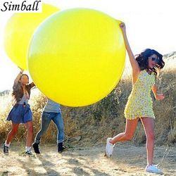 1 шт. 36 дюймов гигантский прозрачный латексные шары воздушные шары на день рождения украшения надувные воздушные шары с гелием Happy шарик для ...