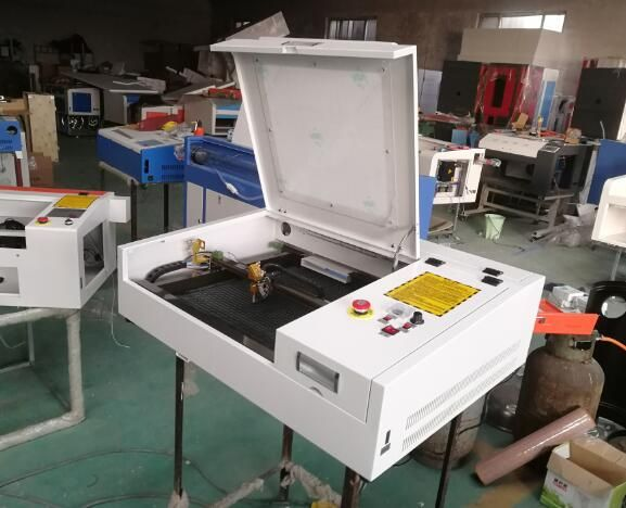 50W CO2 laser 4040 laser engraving and cutting machine free shipping to Almaty and Moscow city include customs duty and tax!