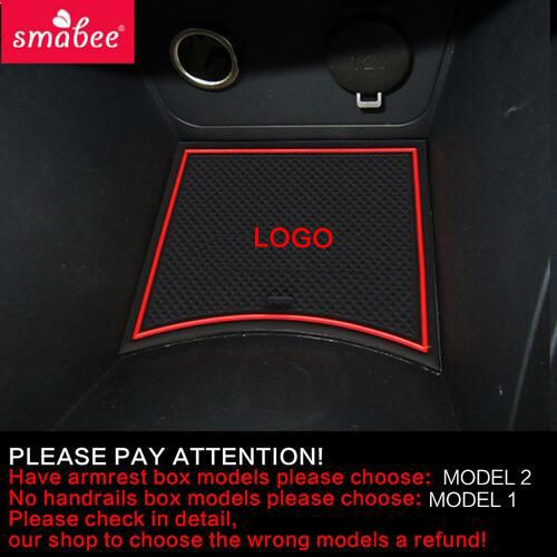 smabee Gate slot <font><b>pad</b></font> For Hyundai Solaris 2011-2015 Door Groove Mat Automotive interior Non-slip mats and dust mat