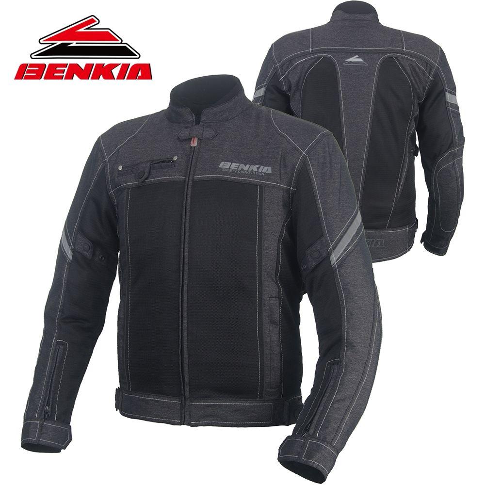 BENKIA retro-stil Motorrad Jacke Chaqueta Moto Jacke Motorrad Racing Jacke Motocross Kleidung Mit Protektoren JS18