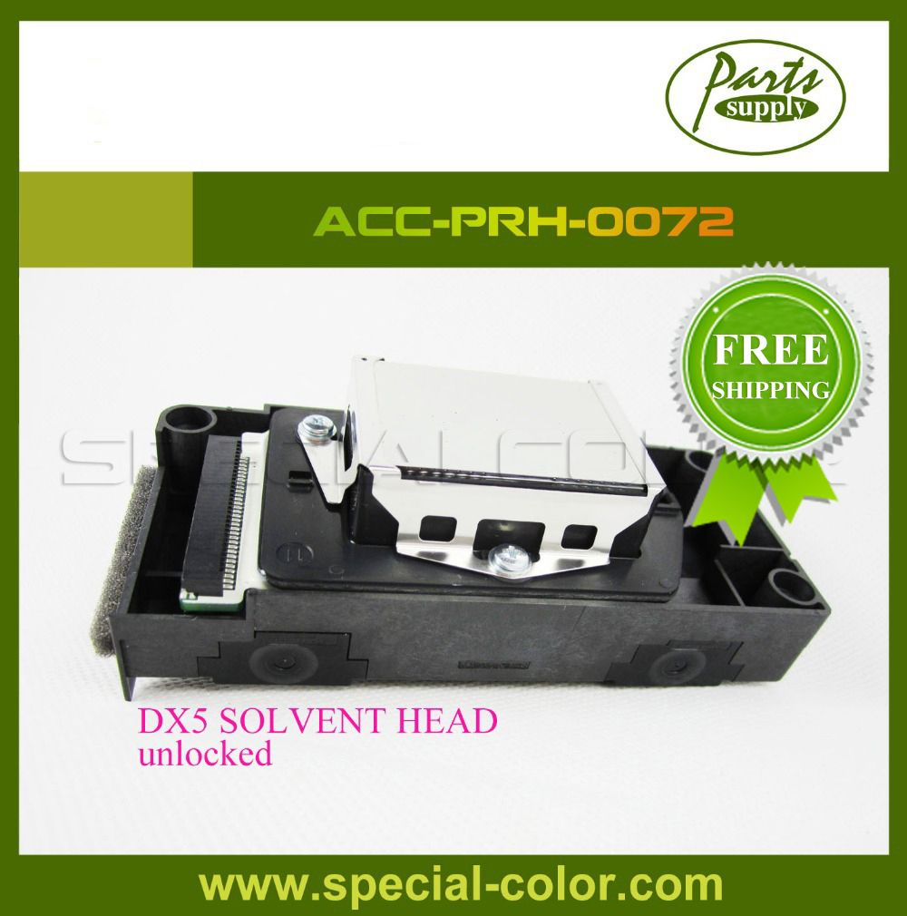 Free Shipping! DX5 Solvent Printhead F186000 Unlocked Print Head DX5 for Galaxy Witcolor Mimaki,etc