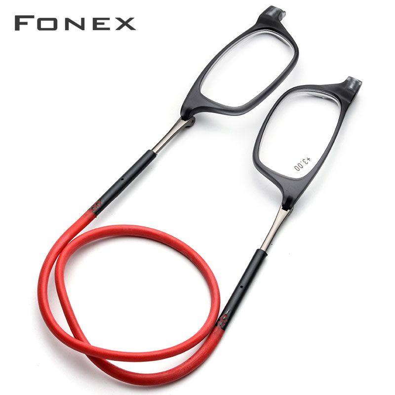 Upgraded Magnet Reading Glasses Men Women Adjustable Hanging Neck Magnetic Front Presbyopic Eyeglasses +1.00 +1.50 +2.00 +3.00
