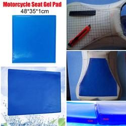 VODOOL 5 Sizes Motorcycle Seat Gel Pad Comfortable Soft Cushion Shock Absorption Mat Blue Modified Seat Cushion Comfortable Mat