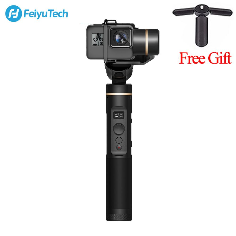 Feiyu FeiyuTech G6 Handheld gopro gimbal Update Version of G5 Wifi + Blue Tooth OLED Screen Elevation Angle for Hero 6 5 4 RX0