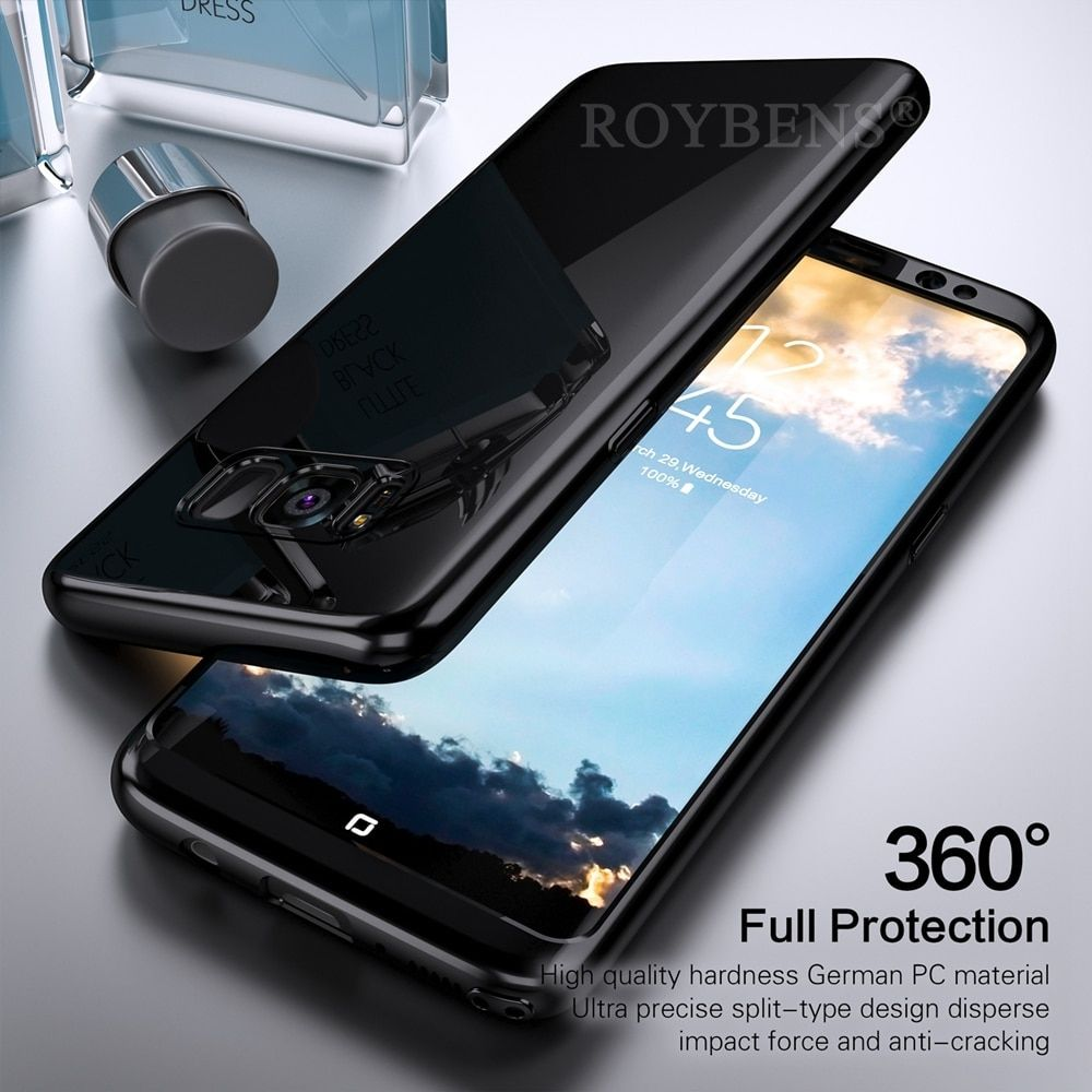 For Samsung Galaxy S8 Case Luxury Mirror 360 Degree Full Body Protection Case For Galaxy Note 8 Plus S7 Edge S9 S9+ Cover