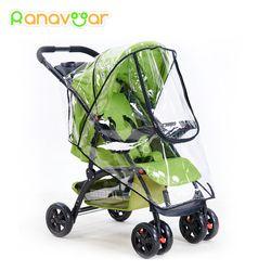 Ranavoar Baby Stroller Accessories Universal Waterproof Rain Cover Wind Dust Shield Zipper Open For Baby Strollers Pushchairs