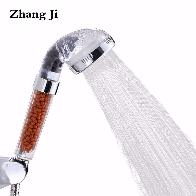 ZhangJi SPA pomme de douche saine économie d'eau haute pression filtre à eau Transparent pomme de douche pluie