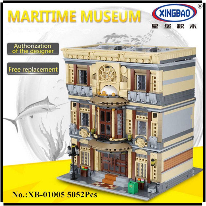 IN STOCK XINGBAO 01005 5052Pcs Genuine Creative MOC City Series The Maritime Museum Set Building Blocks Bricks Toys Model