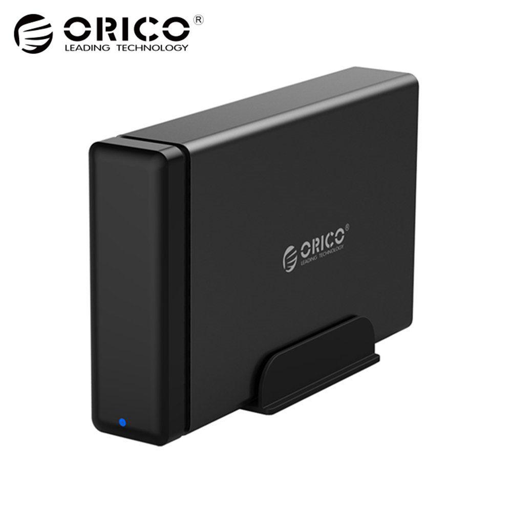 ORICO Aluminum Hard Drive HDD Dock Enclosure USB3.0 to SATA3.0 3.5 inch HDD Case Support UASP 12V2A Power MAX 10TB Capacity