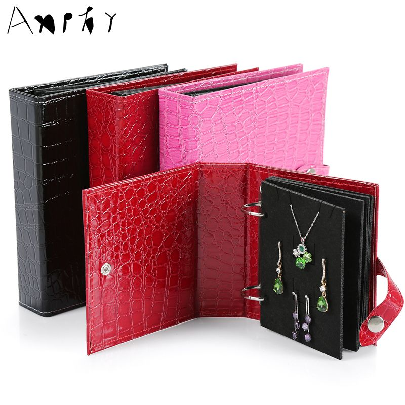 Earrings Carrying Book Jewelry Organizer Creative Earring Storage Jewelry Travel Packing Necklace Holder Jewelry Display A299