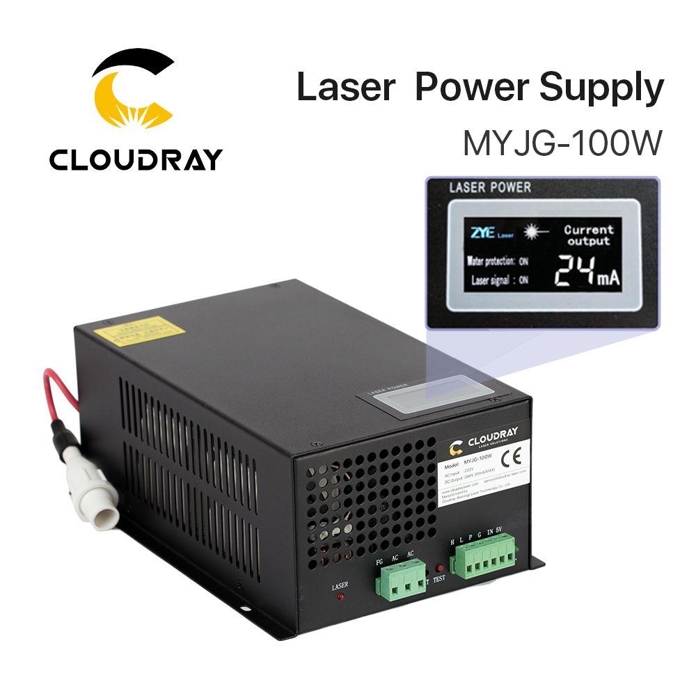 Cloudray 80-100W CO2 alimentation Laser pour CO2 Laser gravure Machine de découpe catégorie de MYJG-100W