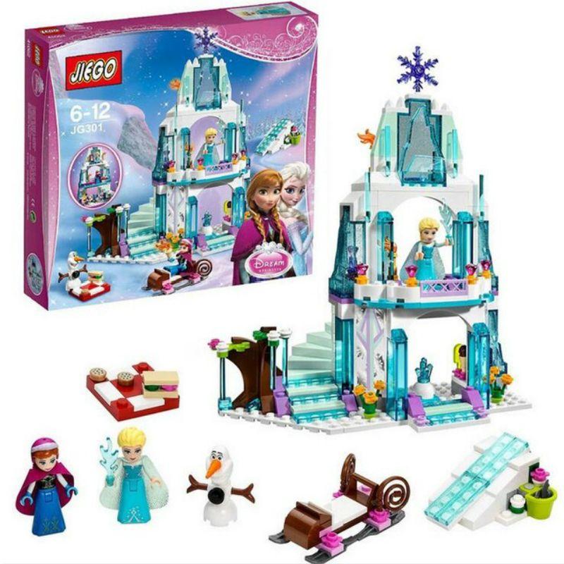316 шт. Цвет коробка мечта принцессы Эльзы ледяной Замок принцессы Анны набор модель здания Конструкторы подарки Игрушечные лошадки Совмест...