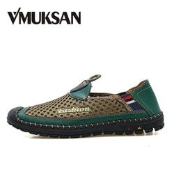 VMUKSAN Men Shoes Plus Size 38-46 Air Mesh New Slip On Man Loafer Summer Fashion Casual Shoes