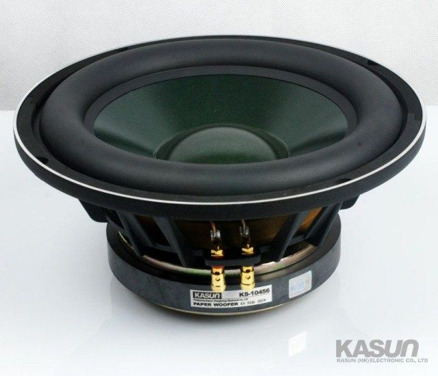 2PCS Kasun KS-10456 10'' Subwoofer Speaker Driver Unit Casting Aluminum Basket Massive Rubber Surround Fs=32Hz 8ohm 250W D260mm