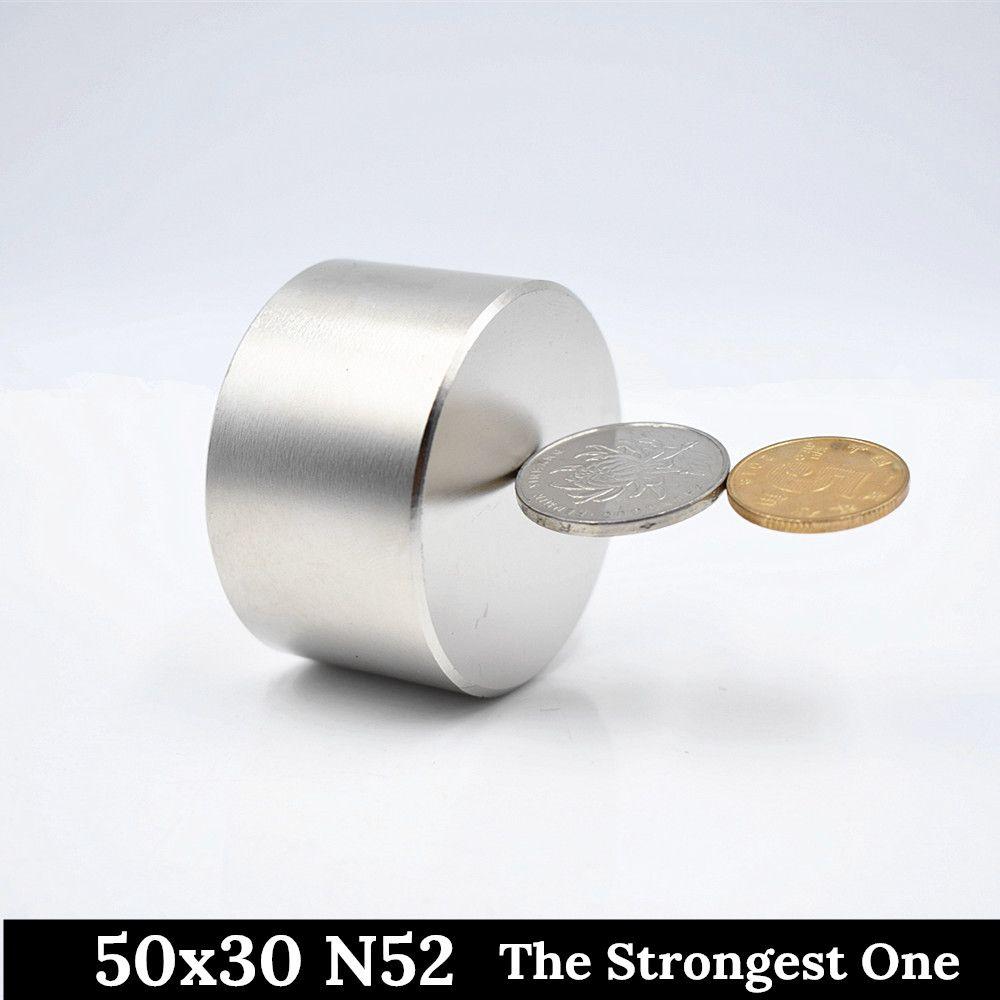 N52 aimant néodyme 50x30mm super forte aimants 40x20mm rond puissant magnétique permanent terre Rare NdFeb métal de gallium chaud