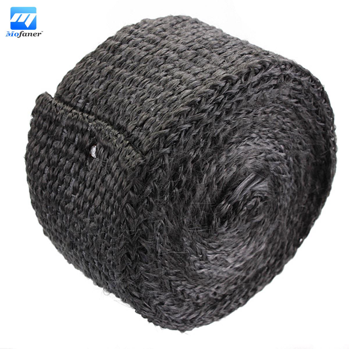 4.5m x 4.5cm x 2mm Car Motorcycle Exhaust Heat Pipe Header Wrap Manifold Fiberglass Insulating Black