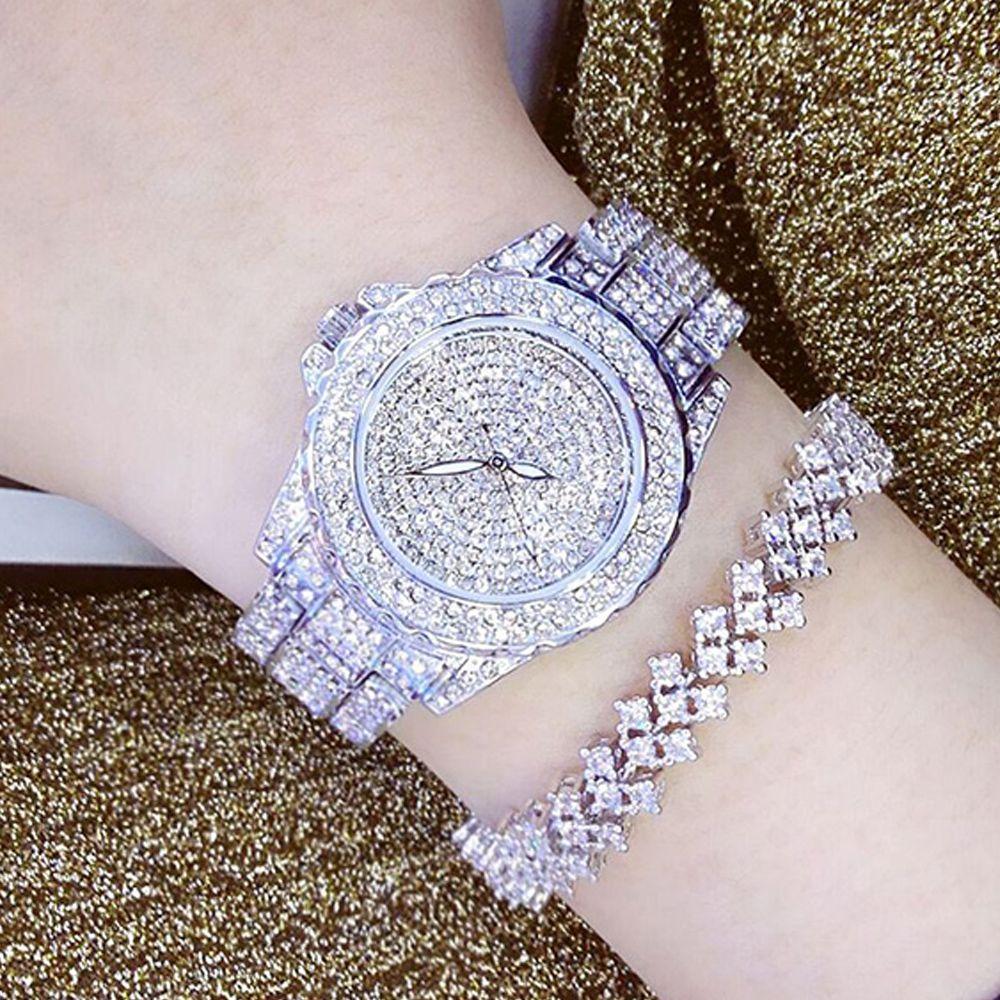 Ladies Fashion Quartz Watch Women Rhinestone Leather Casual Dress Women's Watch Rose Gold Crystal <font><b>reloje</b></font> mujer 2016 montre femme