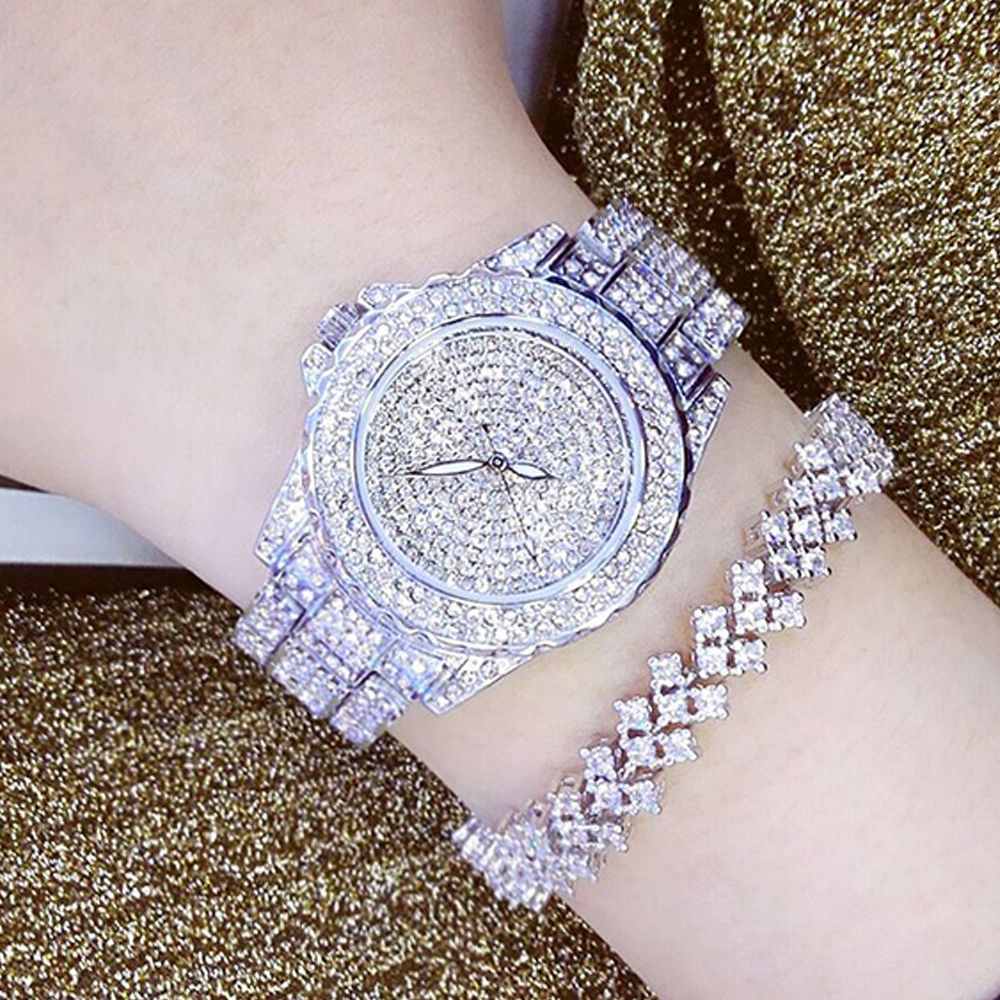 Ladies Fashion Quartz Watch Women <font><b>Rhinestone</b></font> Leather Casual Dress Women's Watch Rose Gold Crystal reloje mujer 2016 montre femme