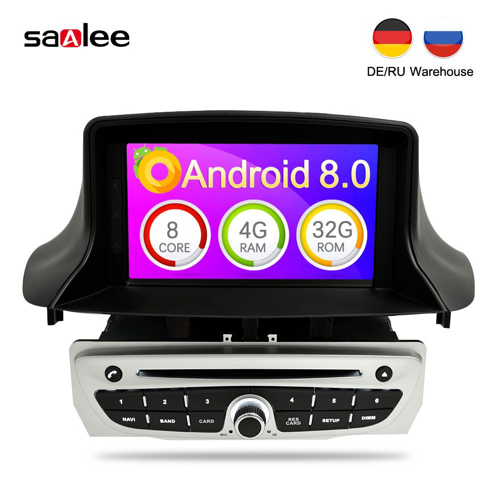 7 Inch Android 8.0 Car DVD Video Multimedia Play For Renault Megane 3 Fluence 4G RAM GPS Navigation Car Stereo Audioradio 2 Din