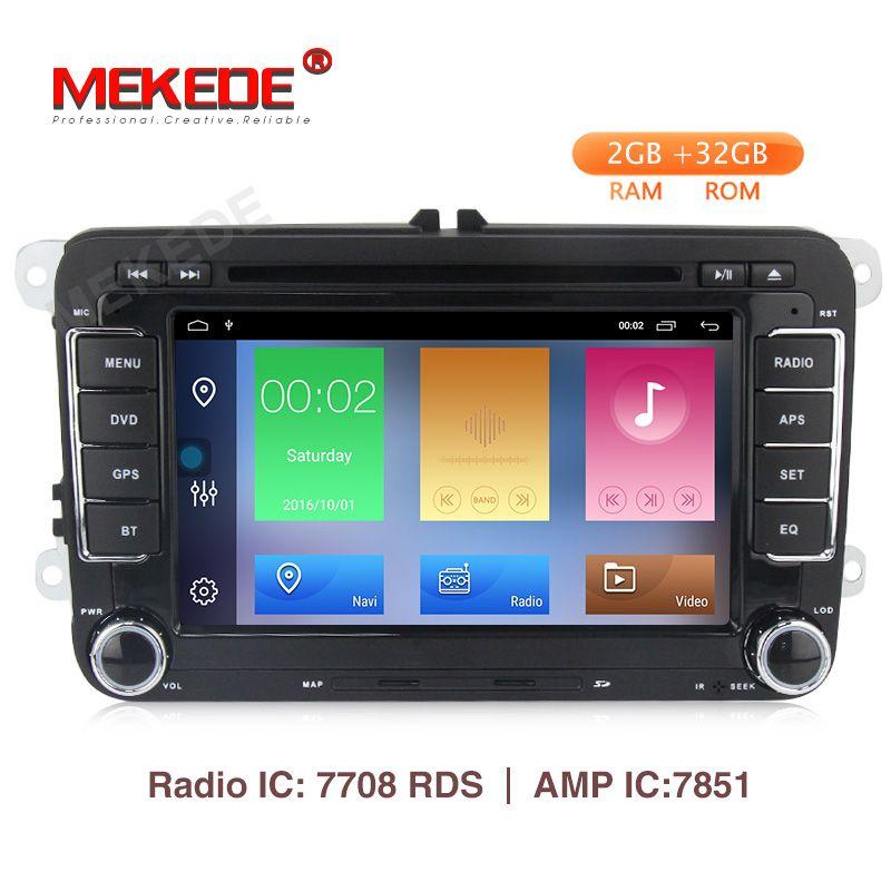 High-end-system! MEKEDE android 9.1 2 GB + 32 GB auto dvd player für VW Skoda Octavia 2 golf auto gps navigation mit freies canbus