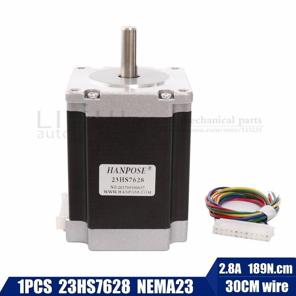 Free shipping Best sellers! 1 PCS, 2 phase, 4-Leads 20Kgcm 76mm CNC Nema 23 Stepper Motor , 3D Printer 23hs7628 23hs8430