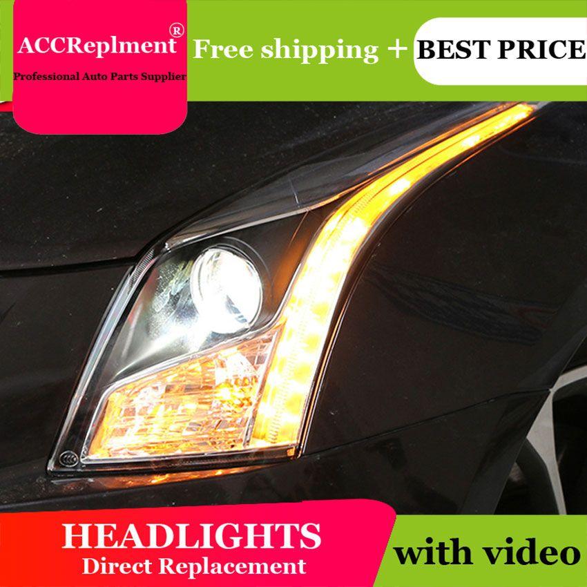 Auto Styling LED Kopf Lampe für Cadillac ATSL scheinwerfer 2014 2015 2016 Neue Cadillac ATSL LED H7 hid Q5 Bi -Xenon Objektiv abblendlicht