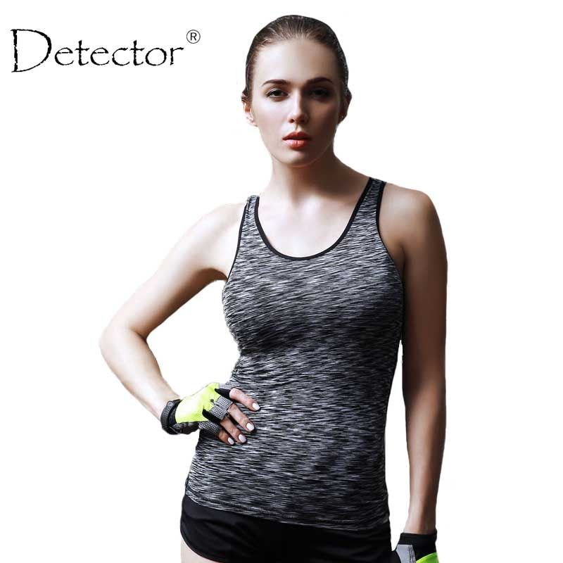 Detector Women Sleeveless Running Vest Tank Tops Quick Dry Loose Vest Gym Fitness Sport Singlet for Jogging