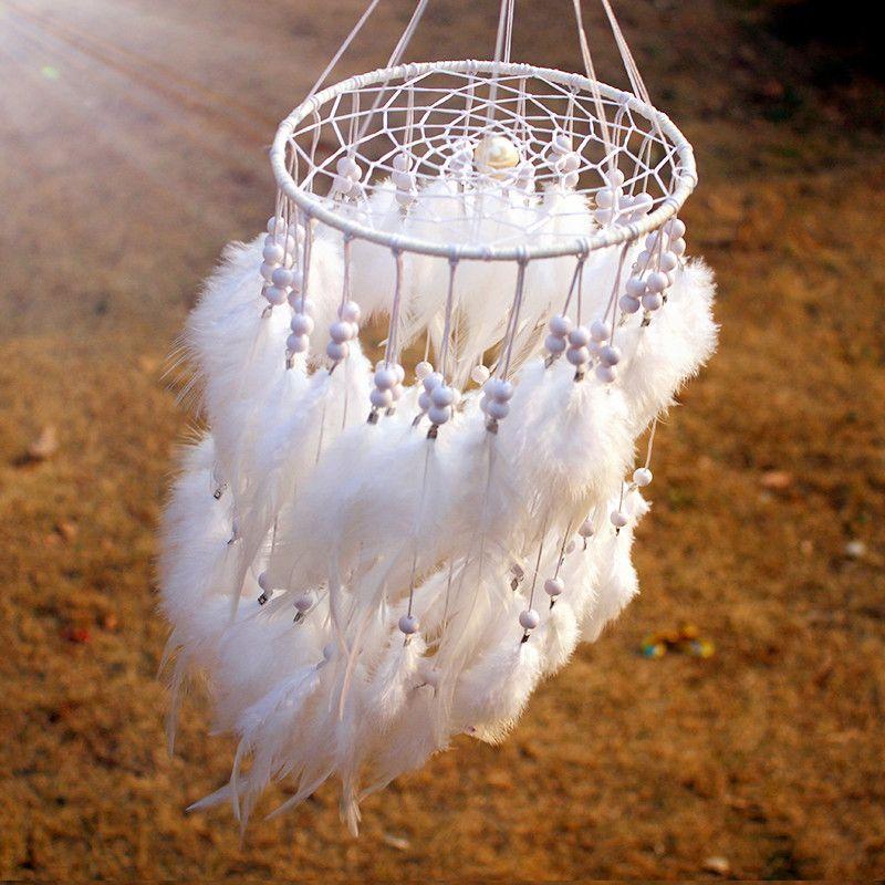 12 couleur nouvelle mode originalité pendaison plume perle capteur de rêves carillons éoliens Style indien pendentif capteur de rêves cadeau