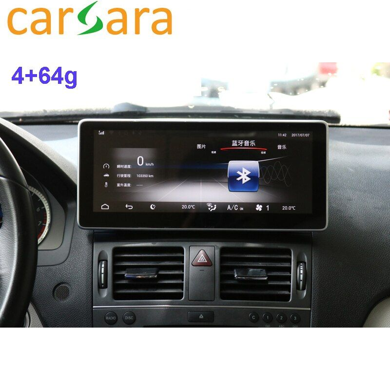 Auto Tablet 10,25 Android Monitor Dashboard Facelift Touchscreen für C Klasse W204 C250 C300 C350 2008 2009 2010