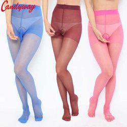 Hot menjual mode Mens Tights 8 Warna stoking Sutra untuk Pria Penis Kantong Selubung Pakaian New sexy bodysuit