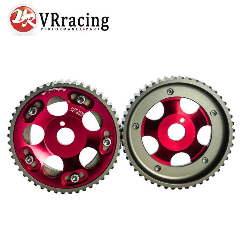 VR RACING-(1 paire) pour Toyota 1JZ 2JZ DOHC moteur réglable en aluminium poulie à came rouge VR6531R