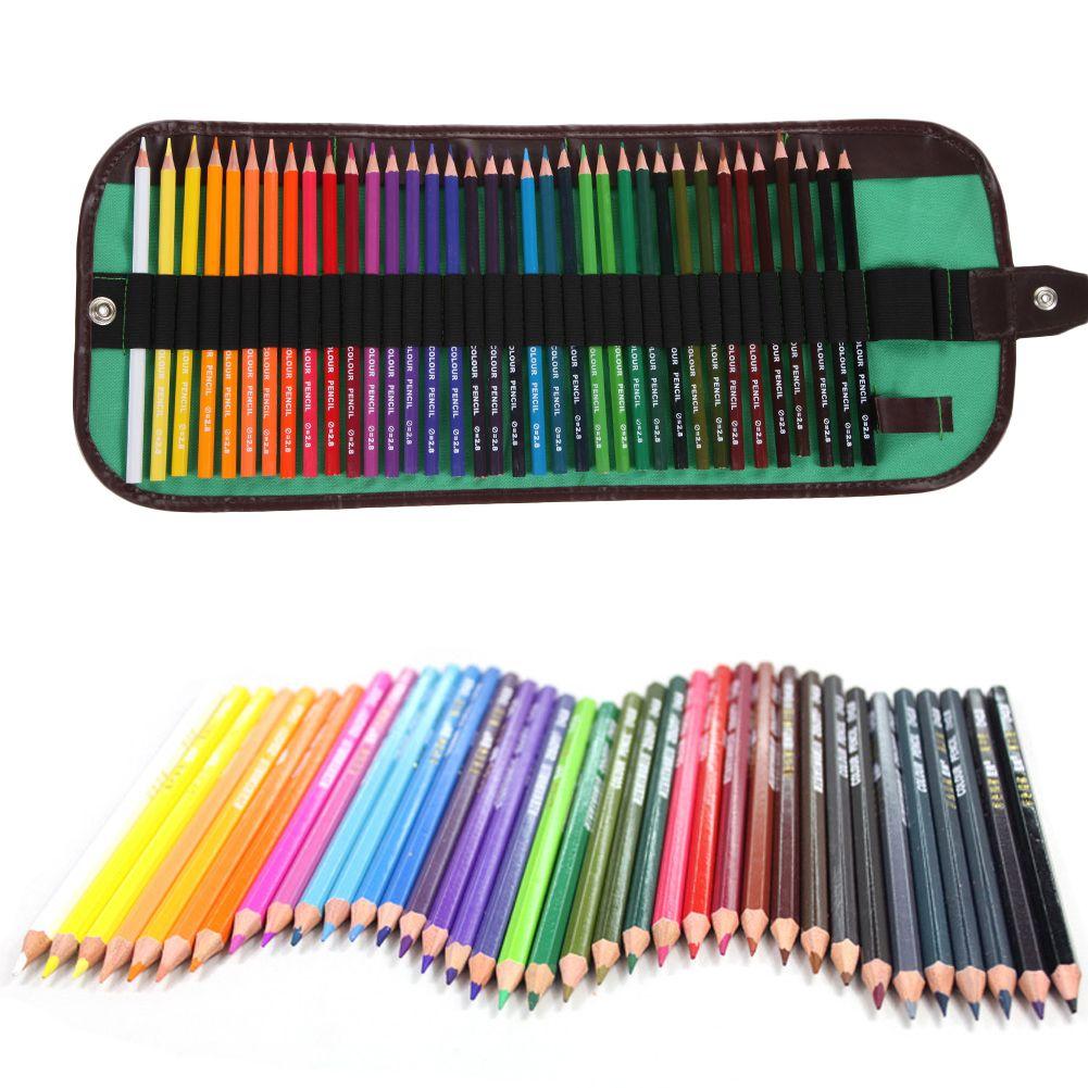 36 crayons de couleur avec sac Marco Fine Art dessin Base d'huile sûr Non-toxique crayons ensemble pour écrire dessin artiste croquis