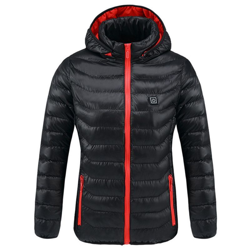 2018 New Women Heated Jackets Winter Thermal Warm Hooded Heating Clothing USB Constant Temperature Women Waterproof Hiking Coat
