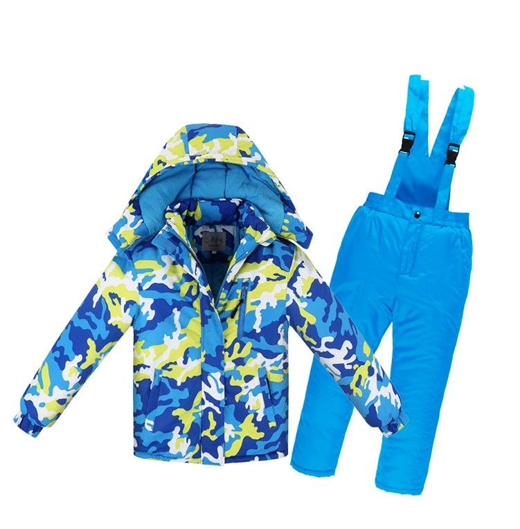 Newly children winter ski Snow suits jacket+overalls child -30 degree sports tracksuit for 10y kid boy girl jacket pants clothes