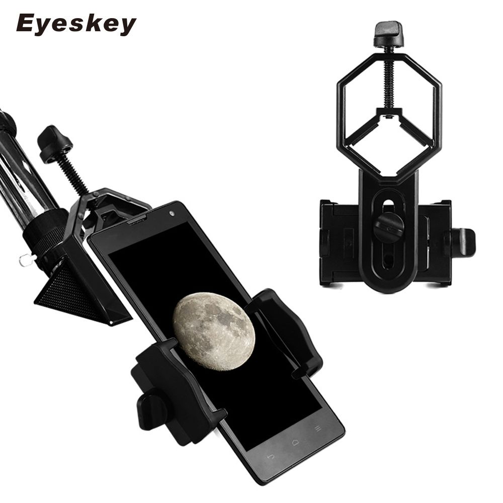Universel pour Téléphone portable Adaptateur Clip Montage Binoculaire Monoculaire Spotting Scope Télescope Téléphone Support Oculaire D: 25-48mm